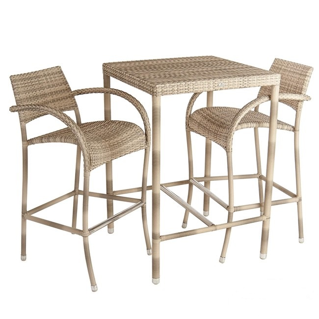 AL.Rose Ocean Fiji 2 Seater Bar Set - Pearl