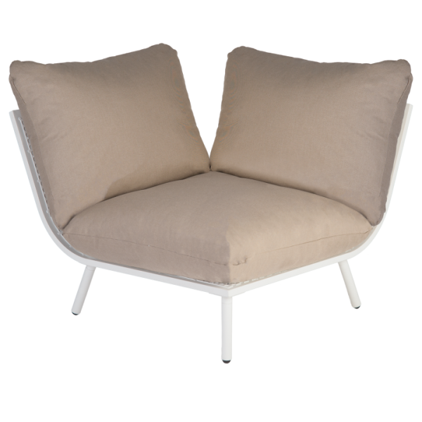 AL.Rose Beach Lounge Modulo Canto - Shell / Taupe
