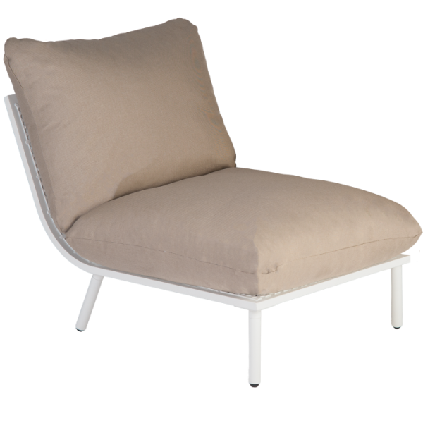AL.Rose Beach Lounge Modulo Centro - Shell / Taupe