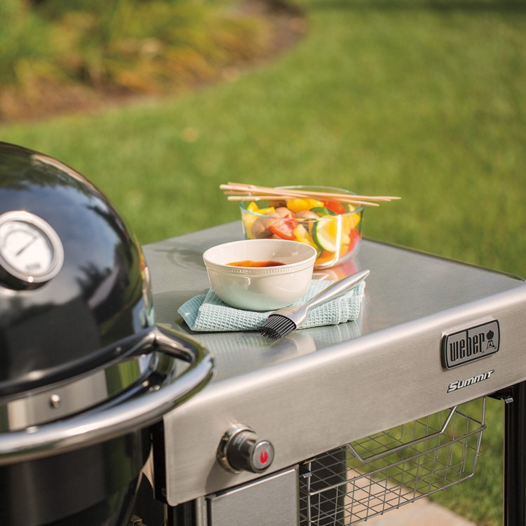 Weber BBQ Charcoal Summit 60cm GBS w / Support Table - Black
