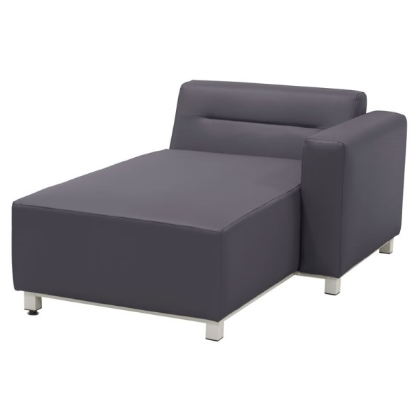 4 Seasons Chivas Modular Chaise Lounge Left Arm -  Silvertex