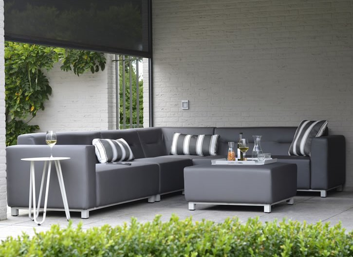 4 Seasons Chivas Modular Chaise Lounge Left Arm -  Silvertex