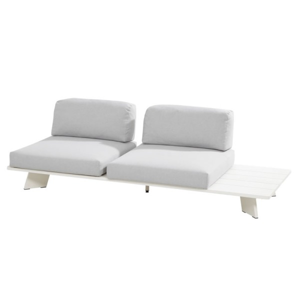 4 Seasons Omnia Platform C/ 4 Pillows - Alumin. White