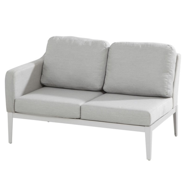 4 Seasons Almeria Modular 2 Seater Sofa Right Arm-Frost Grey