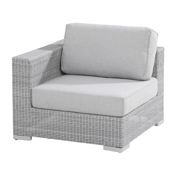 4 Seasons Lucca Modular Corner W/ 3 Cushions - Polyloom Ice