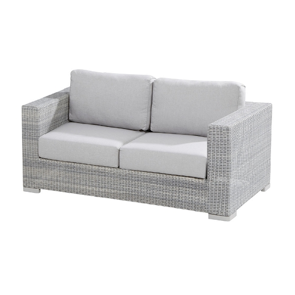 4 Seasons Lucca Sofa 2.5 Seaters W/4 Cushions - Polyloom Ice