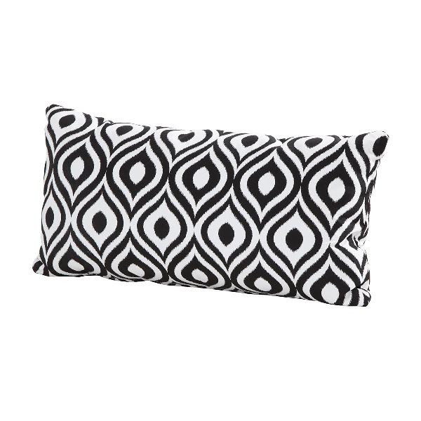 4 Seasons Pillow W/ Zipper 30x60 Pinamar Black