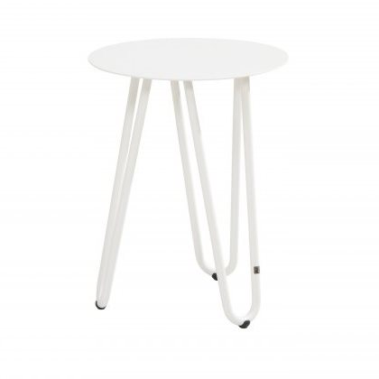 4 Seasons Cool Side Table W/Handle 42Ø x 55H - White