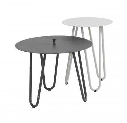 4 Seasons Cool Side Table  42Ø x 55H - White