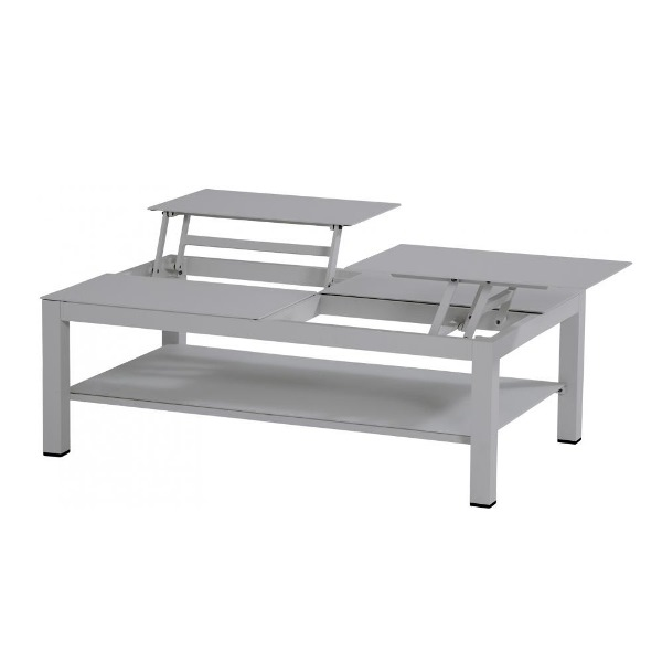 Taste Vallarta Coffee Table w/elevating Top - Slate Grey