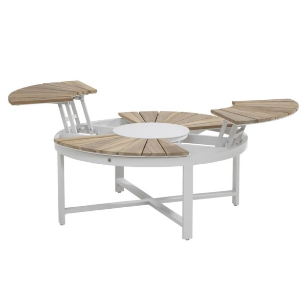 4 Seasons Forio Coffee Table Ø105 Adjustable Teka Top - Grey
