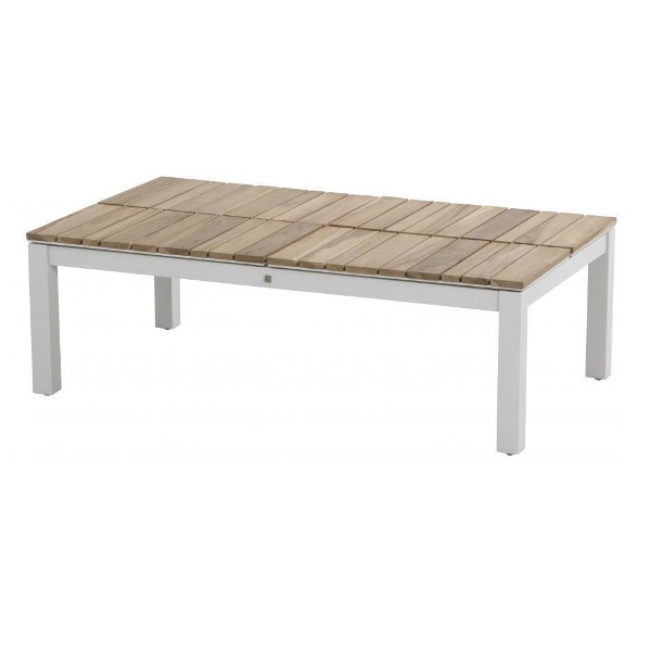 4 Seasons Forio Coffee Table 120x75 Adjustable Teak Top-Whit