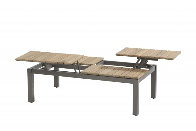 4 Seasons Forio Coffee Table 120x75 Adjustable Teka Top-Grey