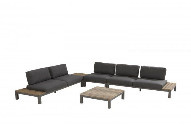 4 Seasons Fidji Modular Center C/2 Pillows - Aluminium/Teak