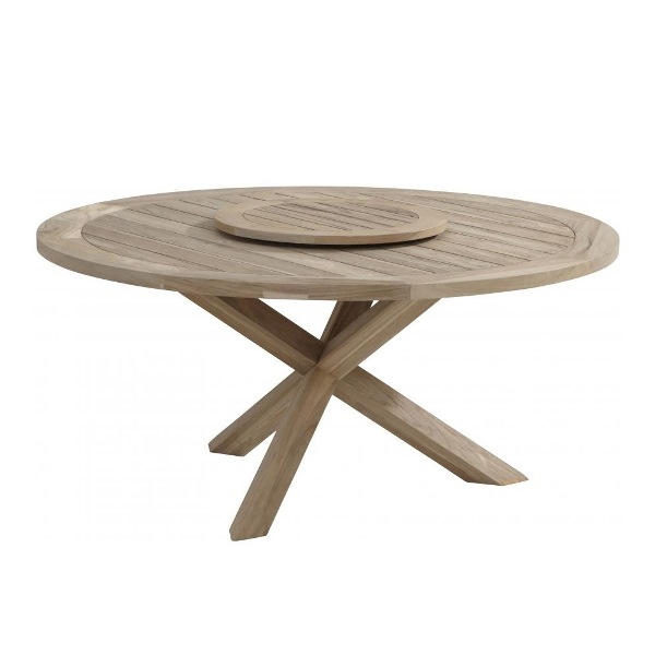 Taste Louvre Table 160 Ø Lazy Susan 65 Ø - Teak
