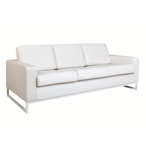 C4D Shape 3 Seater  Sofa - Silver Titan