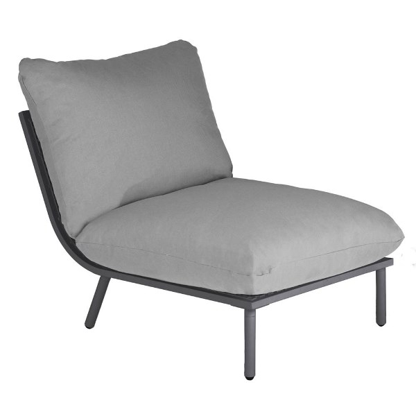 AL.Rose Beach Lounge Modulo Centro - Flint / Grey