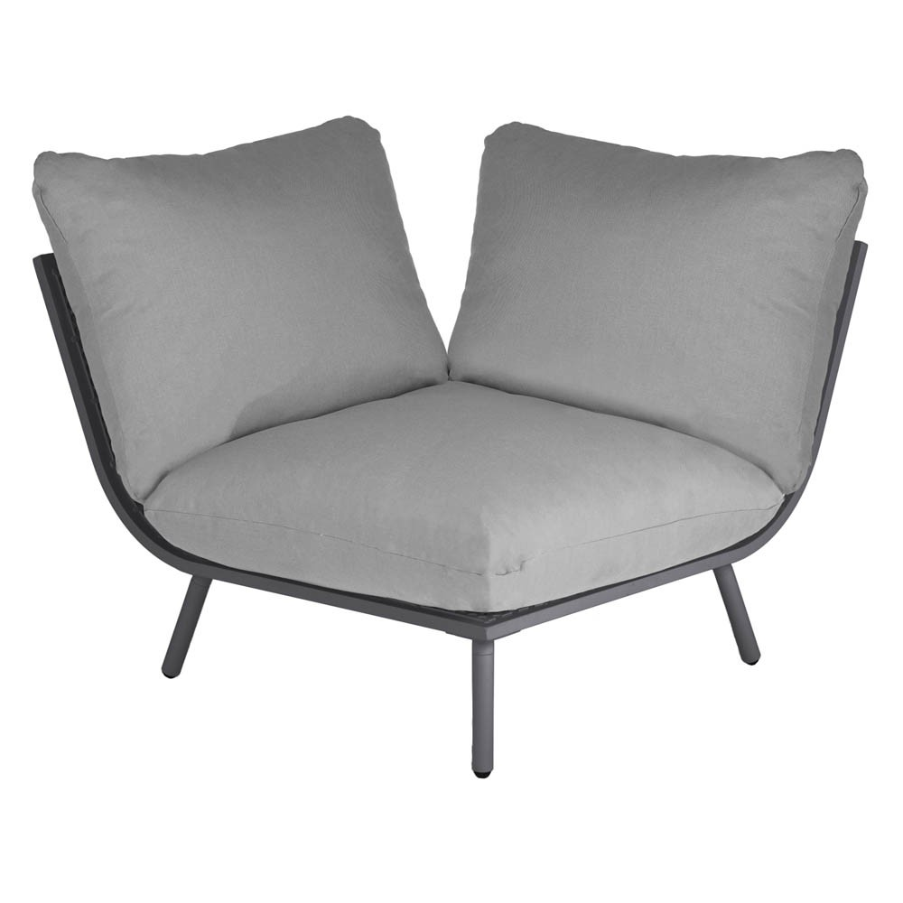 AL.Rose Beach Lounge Modulo Canto - Flint / Grey