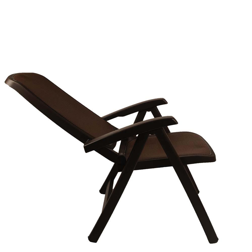 Jofix Delta Cadeira Relaxer Café - Tela Beje