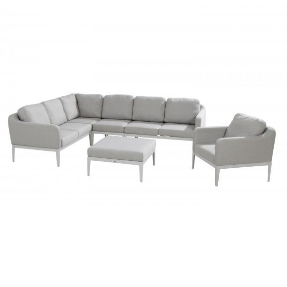 4 Seasons Almeria Modular Sofa Set - Frost Grey