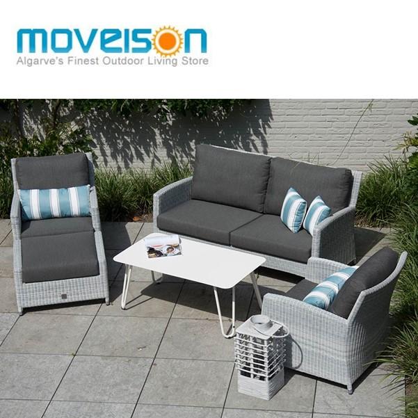 4 Seasons Castillo Sofa Set +Cool coffe table - Polyloom Ice