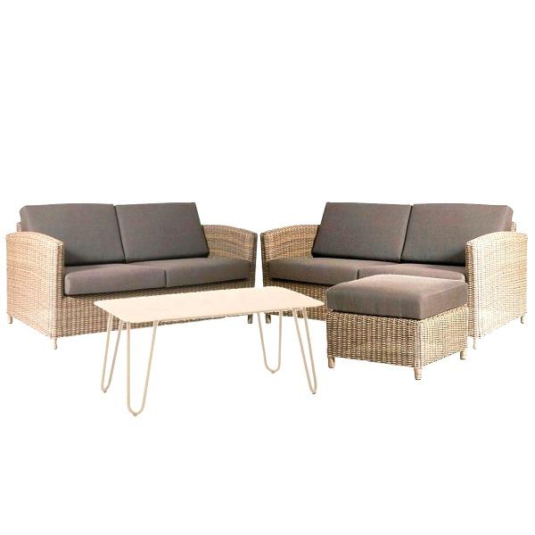 4 Seasons Lodge Sofa Set - Pure