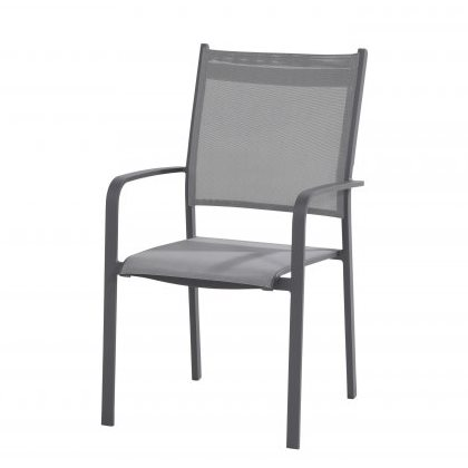 Taste Tosca High Back Dining Chair Stackable - Matt Carbon