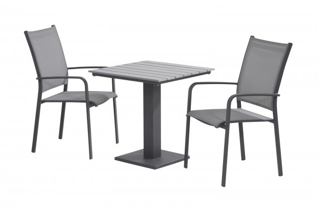 Taste Tosca High Back Dining Chair Stackable - Slate Grey