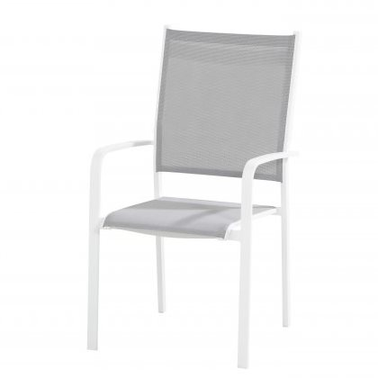 Taste Tosca High Back Dining Chair Stackable - White