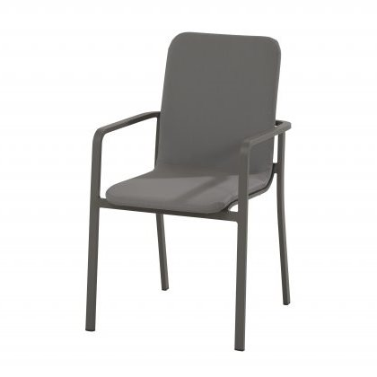 Taste Bergamo Dining Chair Stackable - Matt Carbon