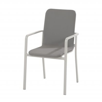 Taste Bergamo Dining Chair Stackable - White