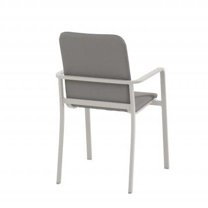 Taste Bergamo Dining Chair Stackable - White