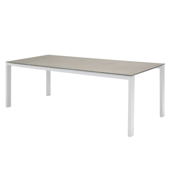 Taste Lafite Floating Table 220x95 w/Spraystone-White/L.Grey