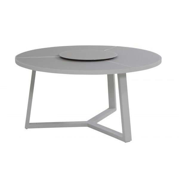 Taste  Organic  Table 150 Ø W/ Lazy Susan - Slate Grey