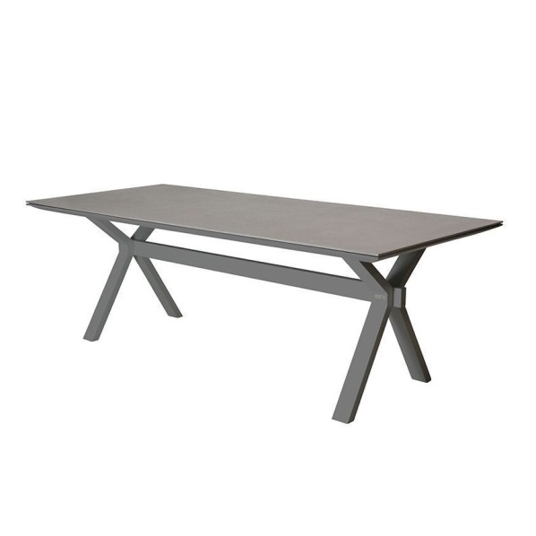 Taste Vesper Table 220x95 w/Spraystone - Slate Grey