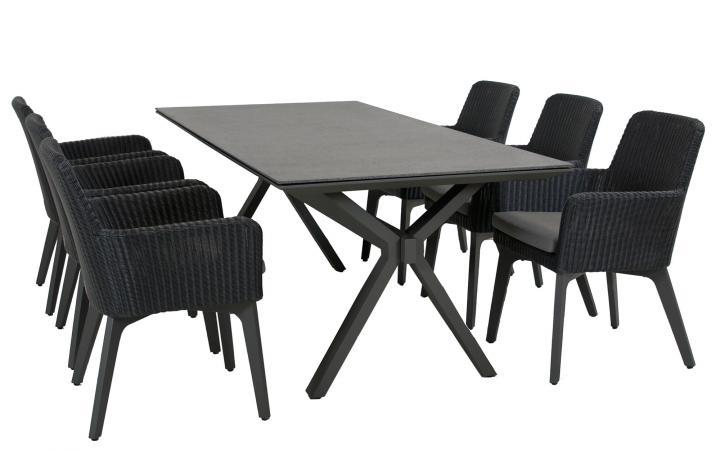Taste Vesper Table 220x95 w/Spraystone - Slate Grey