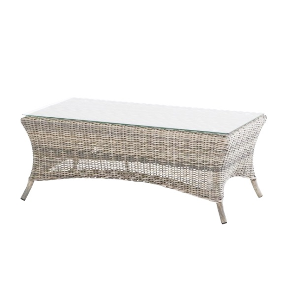 Taste Penida Coffee Table 110x63 W/Glass - Frost