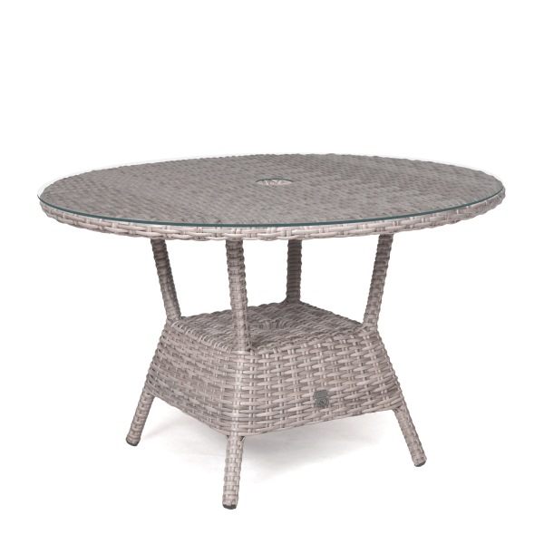 Taste Kaylee Table Ø120  W/Glass and Hole- Frost