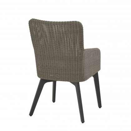 4 SO Luxor Dining Chair w/ cushions Alum. Legs-Polyl. Pebble