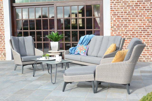 4 Seasons Luxor Sofa 2.5 Lg. C/Alm. - Poly Pebble