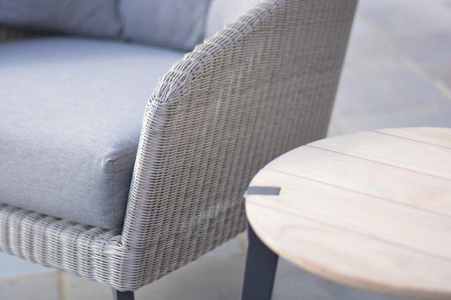 4 SO Luxor Sofa 2.5 Seaters w/ 4 cushions -Polyloom Pebble