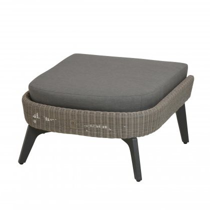 4 SO Luxor Footstool w/ cushion - Polyloom Pebble