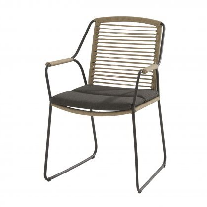 4 SO Scandic Dining Chair w/ cushion - Rope