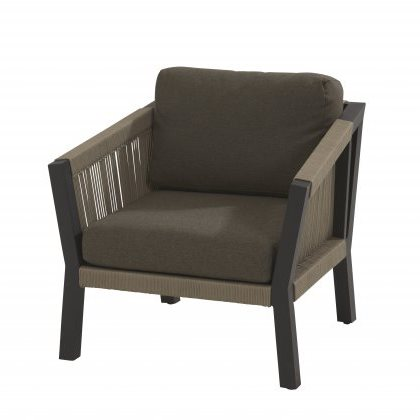 4 Seasons Oslo Living Chair w/  2 cushion - Rope