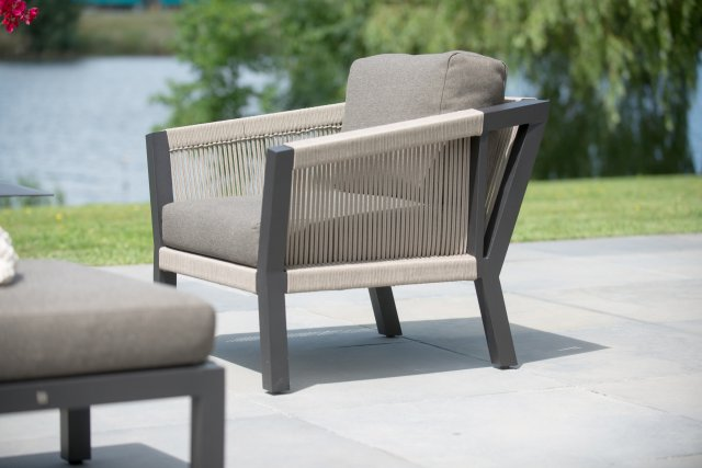 4 Seasons Oslo Living Chair w/  2 cushion - Rope