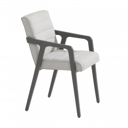 4 Seasons Aragon Chair Alumunium Anthracite - Light Grey
