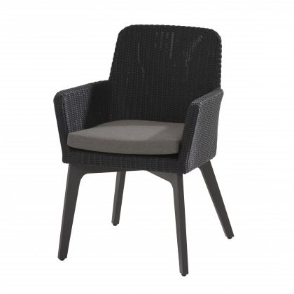 4 Seasons Lisboa Chair Alum. W/Cushion - Polyl Anthracite