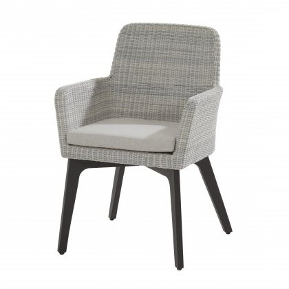 4 Seasons Lisboa Chair Alum. W/Cushion - Polyl Ice