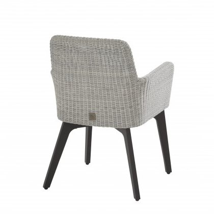 4 Seasons Lisboa Chair Alum. W/Cushion - Polyl Ice