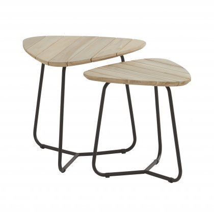 4 Seasons Axel Side Table Set - Antracite/Teak
